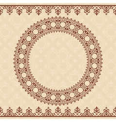 light beige background with brown ornament vector image vector image