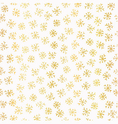 luxe golden foil snowflake seamless pattern vector image