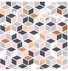 Marble texture seamless pattern design with cubes vector