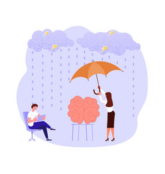 Mental health problems concept vector