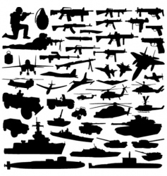 military objects vector image