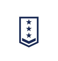 Military rank army epaulettes icon vector