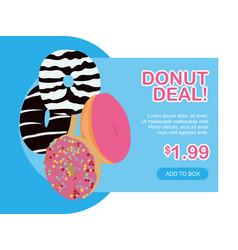 modern flat design donut deal landing page vector image