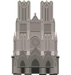 paris - notre-dame cathedral church vector image