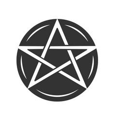 Pentagram glyph icon occult ritual pentacle devil vector