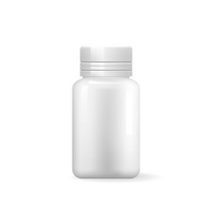 pill bottle isolated icon blank medical container vector image