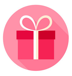 present circle icon vector image
