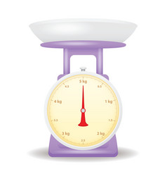 purple color weight scale market isolate on white vector image