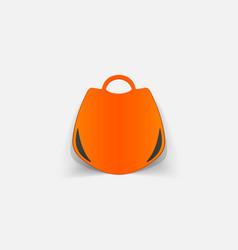 realistic paper sticker handbag vector image