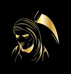 reaper gold vector image