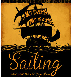 sail boat tee graphic design vector image