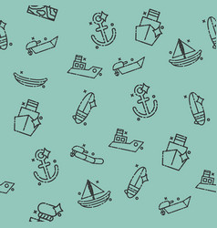 sea transport concept icons pattern vector image