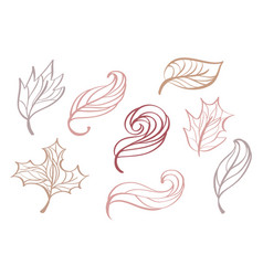 set of doodle sketch style decorative multicolor vector image