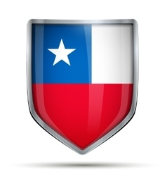 Shield with flag Chile vector