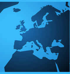 simple blank map of europe vector image