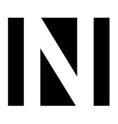 simple elegant logo letter n premium vector image