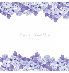 Spring Summer Lilac floral greeting card vector image