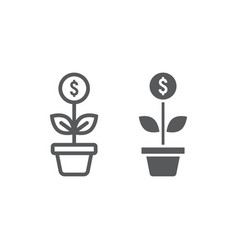 successful investment line and glyph icon vector image