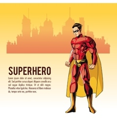 Superhero man cartoon design vector