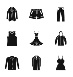 Underwear icons set simple style vector