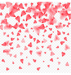 valentines day romantic background red hearts vector image