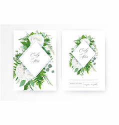 wedding invite invitation floral greenery card art vector image