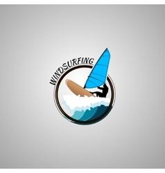 Windsurfing logo vector