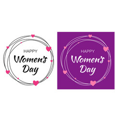 Womens day lettering with scribble circle vector