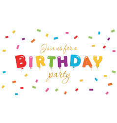 birthday festive background party invitation vector image