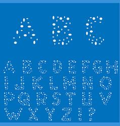 creative english alphabet vector image vector image