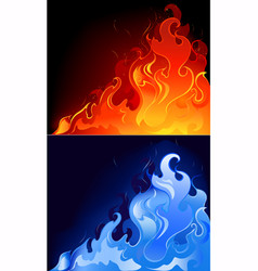 gas flames vector image