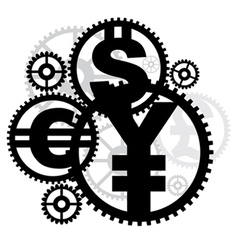 money gears vector image vector image