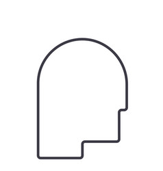 avatar head line icon sign vector image
