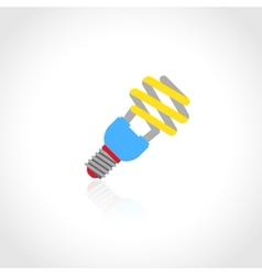 Energy saving lightbulb icon vector image