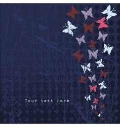 grunge butterflies vector image vector image