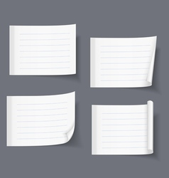 Lined Sticky Papers vector image vector image