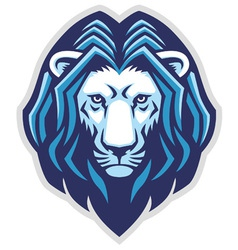 lion head mascot vector image vector image