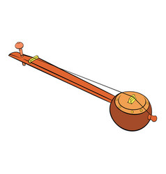 Traditional indian ektara icon cartoon vector