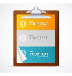 Blank clipboard 123 concept vector image