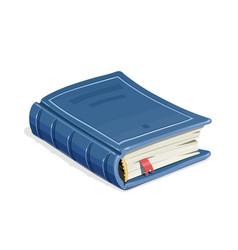 Blue vintage book vector