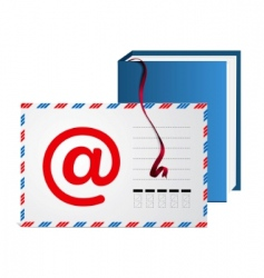 email address book vector image