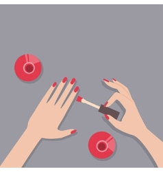 Flat of female manicure vector image