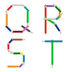 pencils alphabet vector image