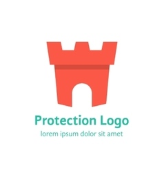 protection branding with red fortress vector image