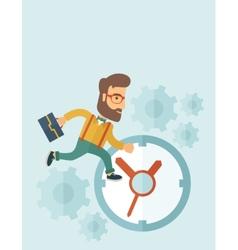 Running businessman vector image