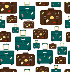 seamless pattern with travel bags isolated on vector image