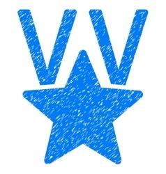 Star Victory Award Grainy Texture Icon vector image