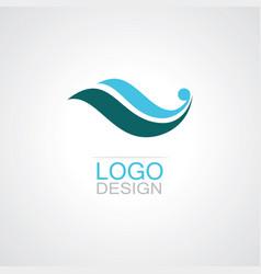 swirl loop logo vector image