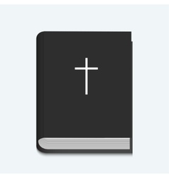 bible on white background vector image