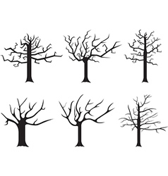 Dead trees vector image